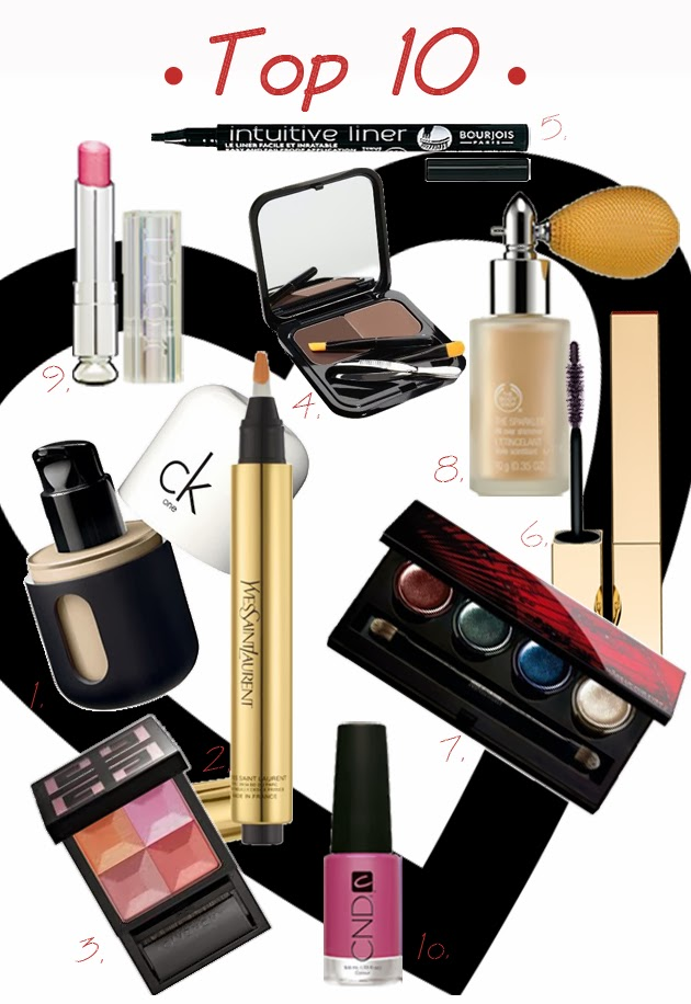 top_10_beauty_ck_one_ysl_makeupforever_benefit_bodyshop_clarins_bourjois_dior_givenchy_cnd_beauty_blog
