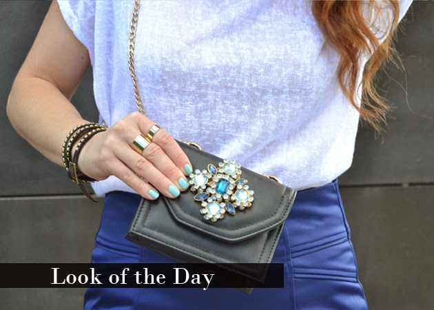 Look of the Day: Pencil Skirt & T-Shirt