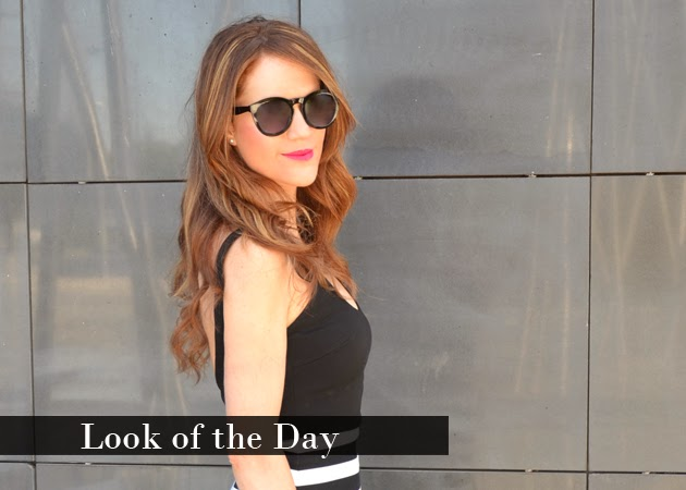 Look of the Day: Black & White Stripes Dress