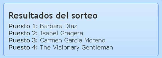 GANADORES DEL SORTEO WHITE MUST THEBODYSHOP